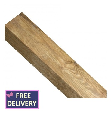 Timber Post Square Top 100mm by 1350mm - WP44S