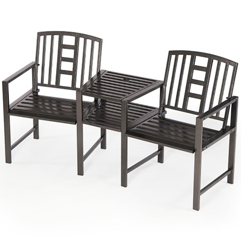 Hartlebury Duo Garden Bench and Table Companion Seat
