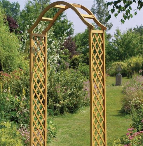 Elegance Wooden Garden Arch - Tan