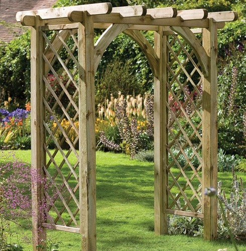 ultima wood pergola garden arch the garden factory. Black Bedroom Furniture Sets. Home Design Ideas