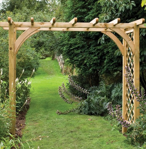 Large Wooden Ultima Pergola Garden Arch by Forest Garden