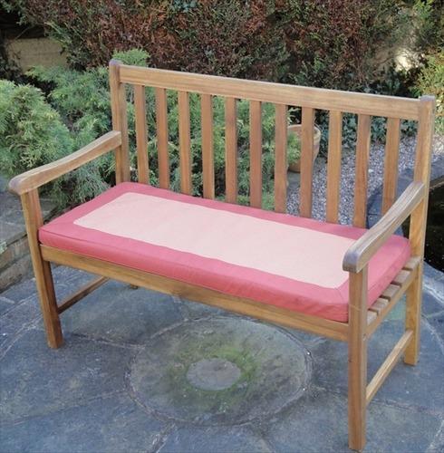 Garden 2 Seater Bench Cushion - Terracotta