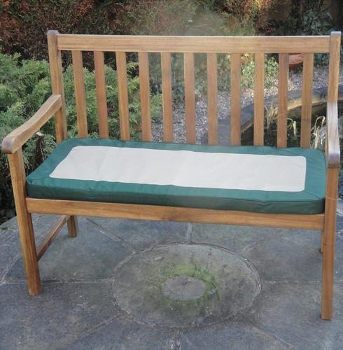 Garden 2 Seater Bench Cushion Green