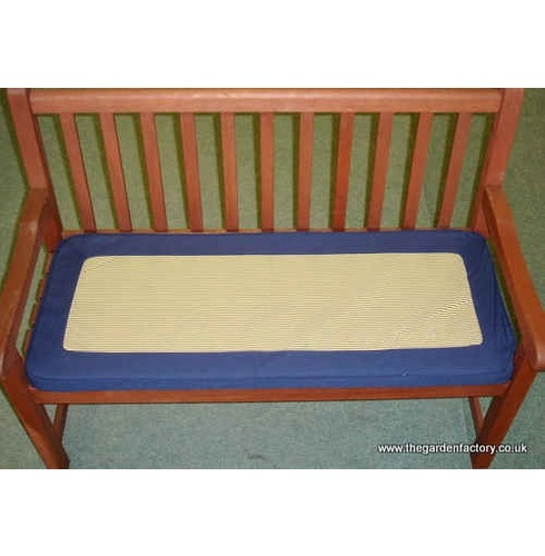 2 Seater Bench Cushion - Blue