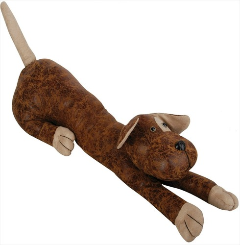 Dog Faux Leather Suede Animal Draught Excluder