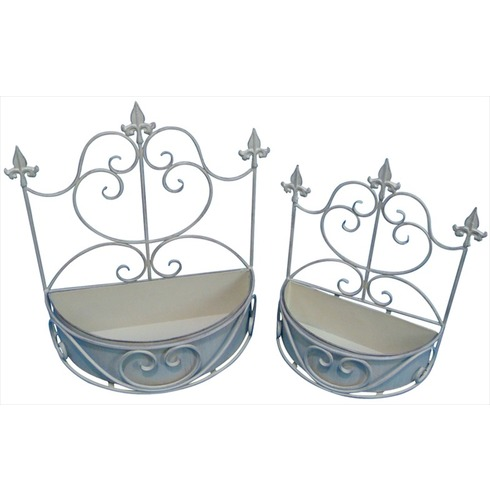 Old Rectory Oval Wall Planter x 2- Antique Cream