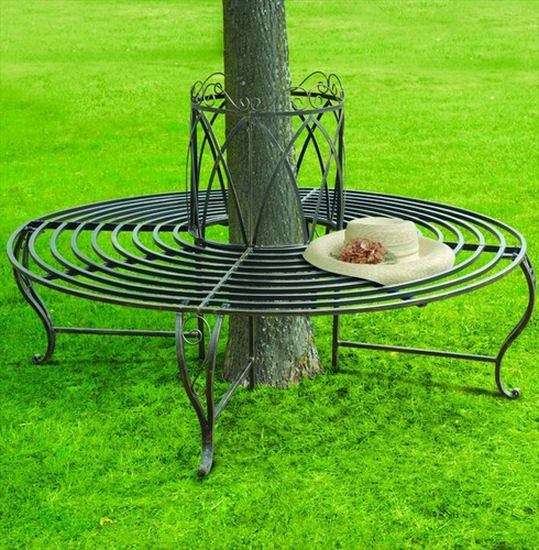 Chelsea Circular 360 Metal Tree Bench | Seat