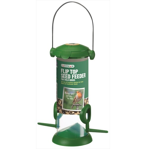 Seed Feeder with flip top  for wild birds