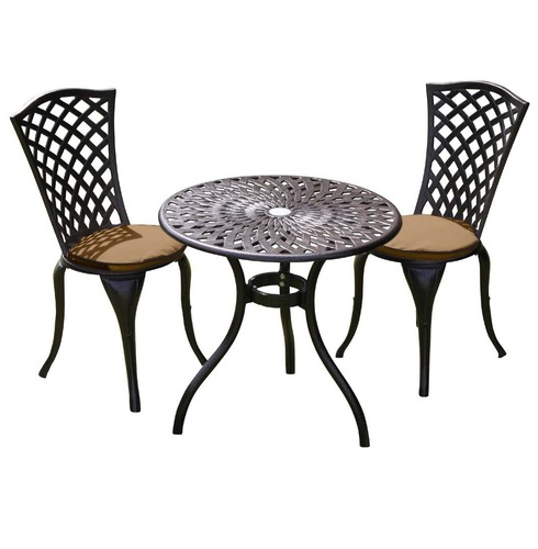 Reno Garden Bistro Set - With Seat Pads
