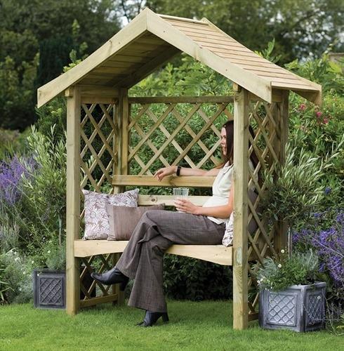 Sienna Garden Arbour Seat by Forest Garden