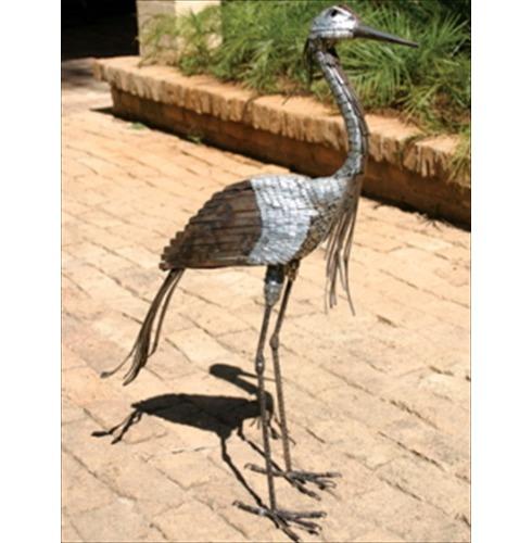Garden Art Demoiselle Crane in Metal