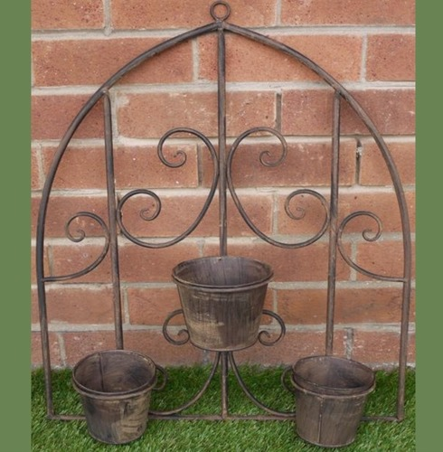 Rustic Wall Pot Holder