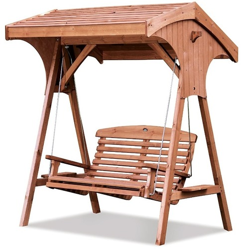 Roofed Apex Swing Seat - 2 Seater by AFK