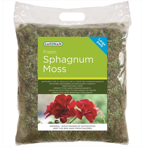 Sphagnum Moss for Wire Hanging Baskets from Gardman