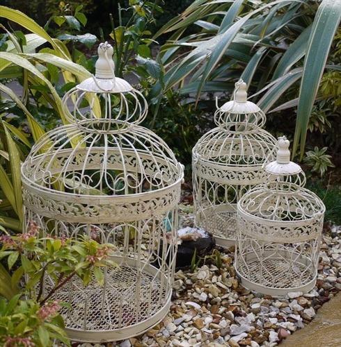 Ornate Bird Cage set of 3