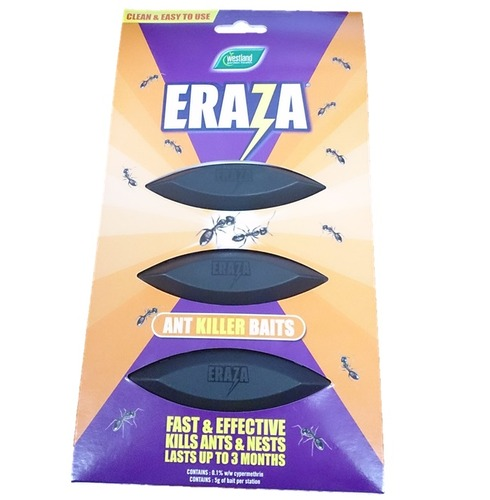 Ant Killer 3 Bait Stations - Eraza - 5g Per Station