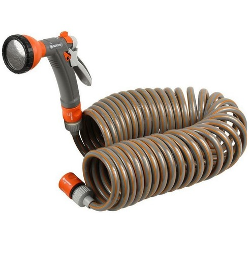 Spiral Hose Kit Set 10m with Fittings - Gardena