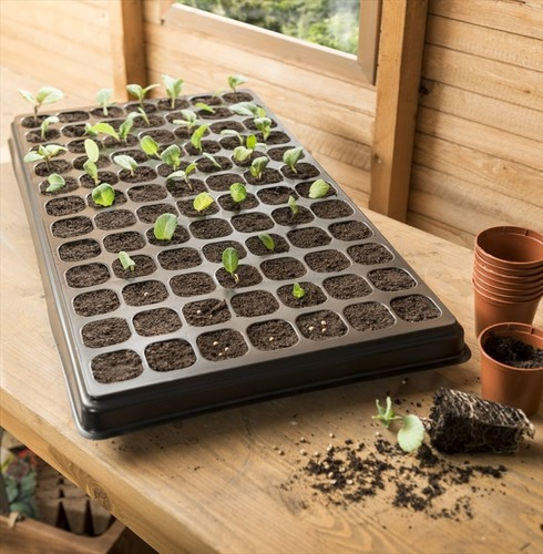 Jumbo Growing Kit - 84 Cell Tray with Watering Tray and Capillary Mat