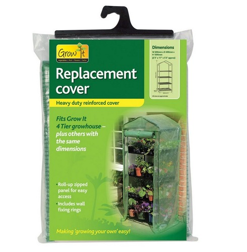 Replacement 4 Tier Greenhouse Cover - Reinforced PE Cover