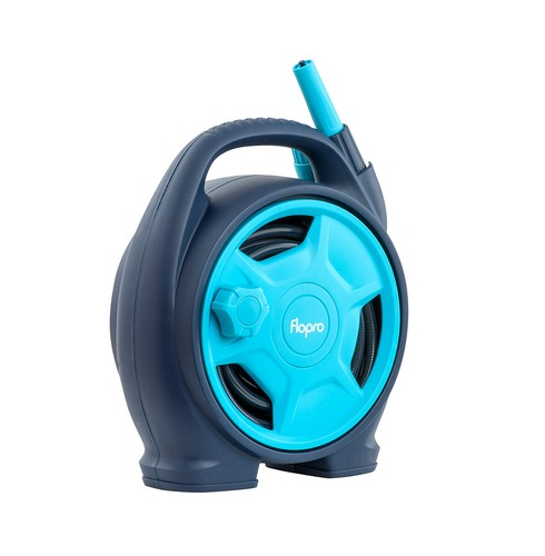 Flopro Mini Hose Reel - Complete with Fittings - Compact and Easy Portable