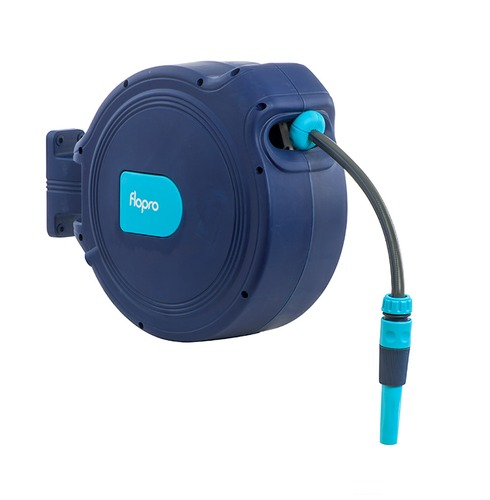 Flopro+ Auto Retract Hose Reel 15m - Wall Mounted - Complete with Fittings