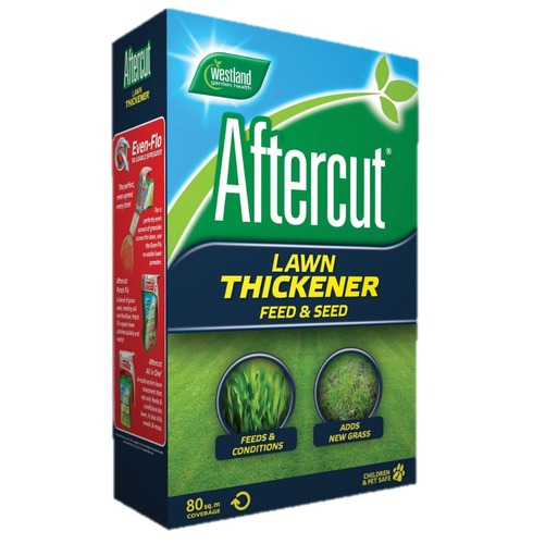 Westland Aftercut Lawn Thickener Grass Seed and Feed - treats 80sqm