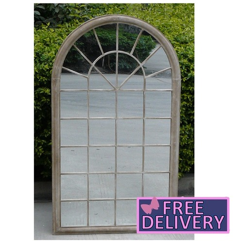 Arch Outdoor Wall Decorative Mirror - Natural - Charles Bentley