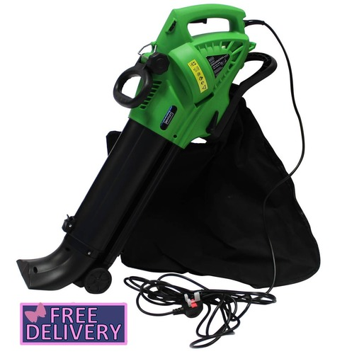 Electric 220V 3000W Leaf Blower - Vacuum Collector - Shredder With 45L Bag - Charles Bentley
