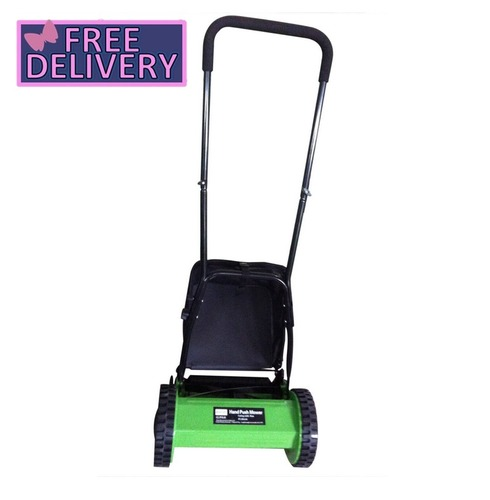Eco Friendly Manual Hand Push Lawn Mower With Grass Collector - Charles Bentely