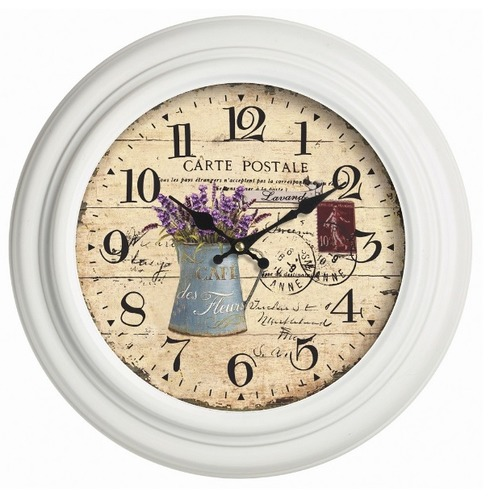 Lilas Wall Clock - French Style Indoor or Outdoor Garden Clock