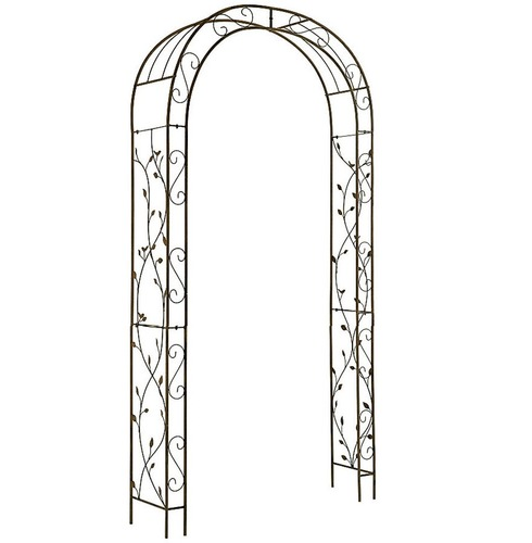 Woodland Nature Metal Garden Rose Arch - Antique Finish