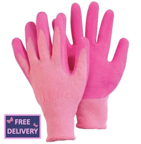 Comfi Soft Latex Gardening Gloves - Medium - Pink