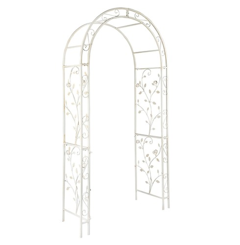 English Metal Garden Rose Arch by Gardman