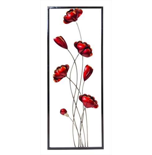 Wall Art Poppies - Poppy Indoor or Outdoor Garden Wall Art Fountasia
