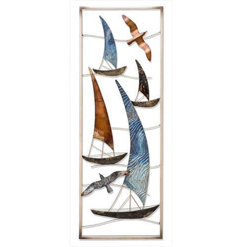 Sailing Boats Metal Garden Wall Art - Fountasia