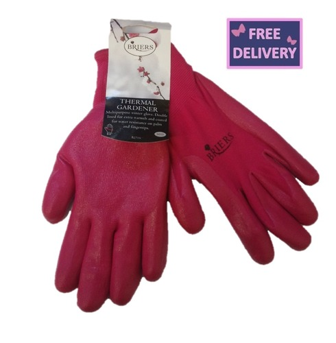 Thermal Gardeners Gardening Gloves - Pink - Medium - Briers