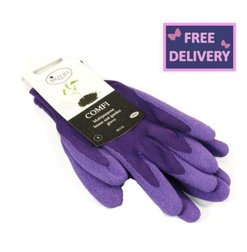 Comfi Soft Latex Gardening Gloves - Medium - Purple