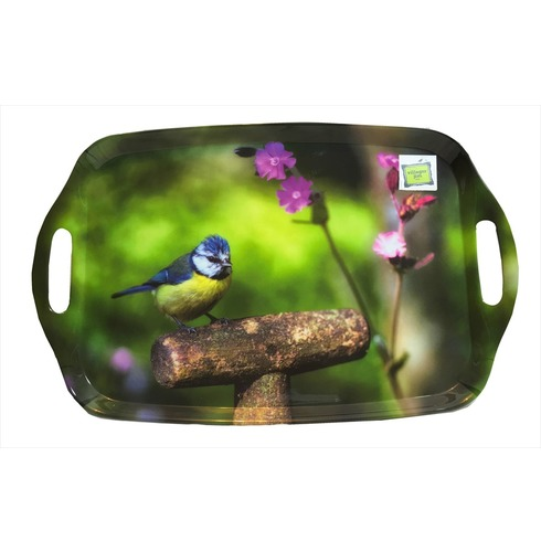 Garden Blue Tit Tray - Country Matters Tea Tray