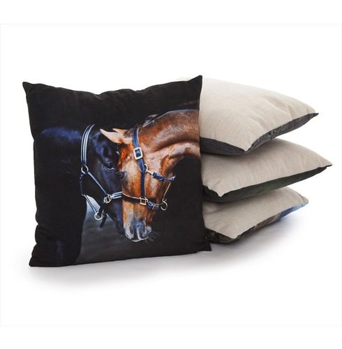 Old Friends Cushion - Country Matters Horses Print Cushion