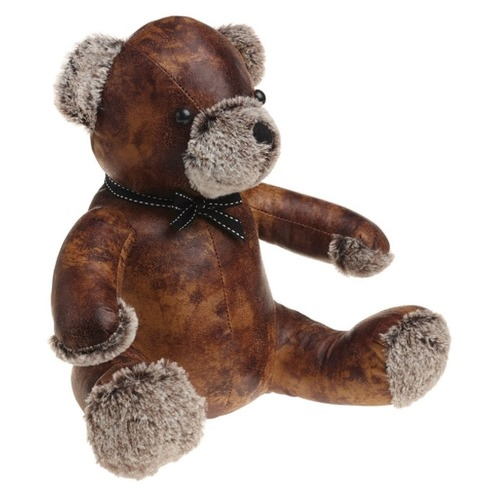 Bentley the Teddy Bear Doorstop - PU Leather and Cotton Door Stop