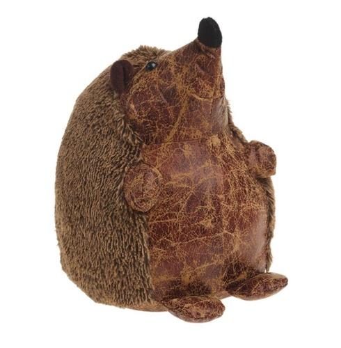 Henry the Hedgehog Doorstop - PU Leather & Cotton Fabric Door Stop