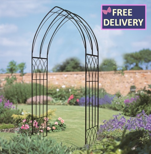 Abbey Gothic Metal Garden Rose Arch