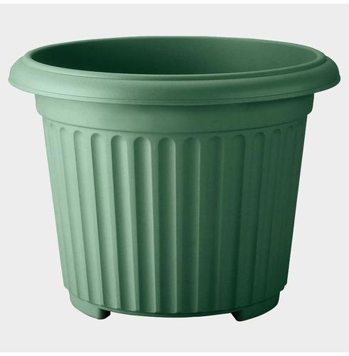 Corinthian Round Planter 40cm - Green - Lightweight