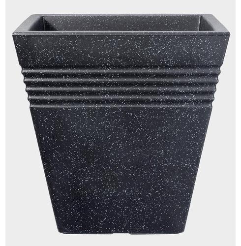 Piazza Square Patio Tub Planter Pot 34cm or 40cm - Granite