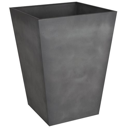 Beton Tall Square Planter Pot - Dark Grey - 40cm
