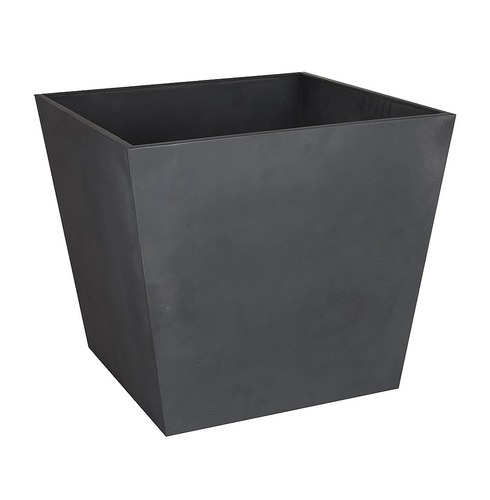 Beton Low Square Planter Pot - Dark Grey - 48cm