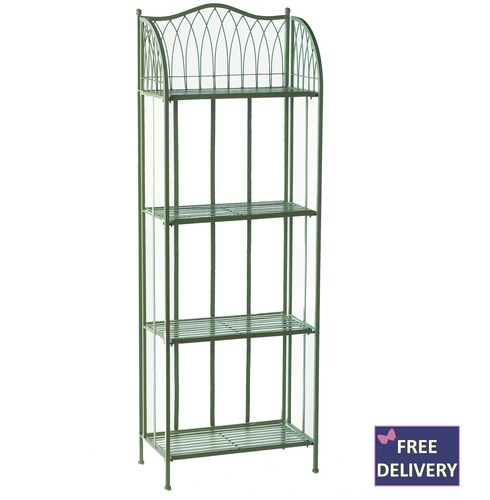 Hampton Bakers Rack - 4 Tier Plant Stand - Green