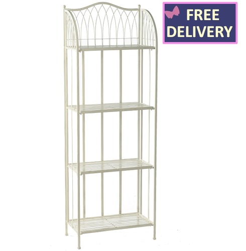 Hampton Bakers Rack - 4 Tier Plant Stand - Cream