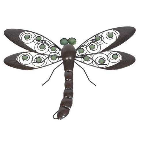 Dragonfly Wall Art With Glow In The Dark Beads