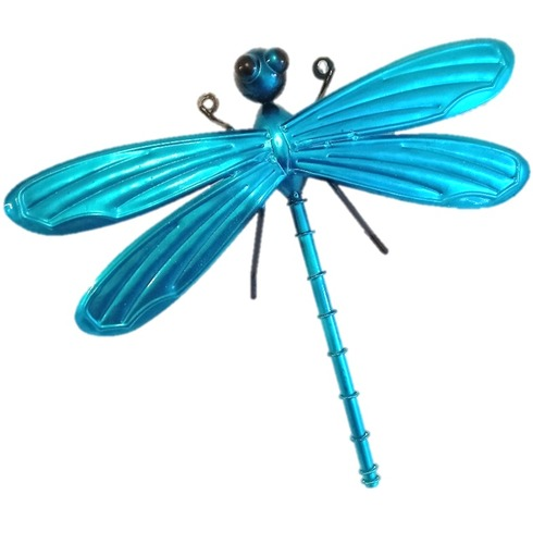 Dragonfly Garden Wall Art 3D - Turquoise - Small